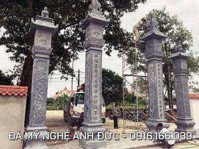 Cột đá ĐẸP cho Cổng đá Đình làng tại Ninh Bình