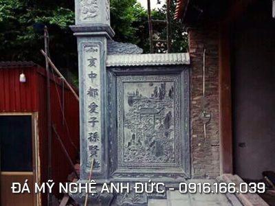 Cột đá đồng trụ ĐẸP cho Từ Đường ở Ninh Bình