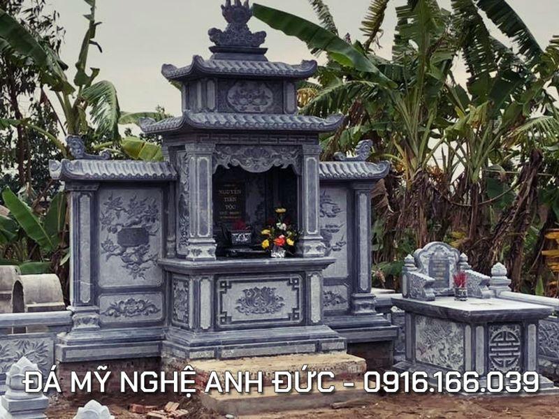 Lăng mộ đá ĐẸP với Lăng thờ cánh điển hình, Diện tích 5x7m