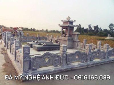 Lăng mộ đá ĐẸP cho Cha Mẹ Anh Kính Nghệ An, Diện tích 12.5x8m