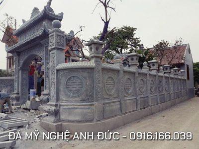 Cổng đá ĐẸP cho Nhà thờ họ tại Ninh Bình