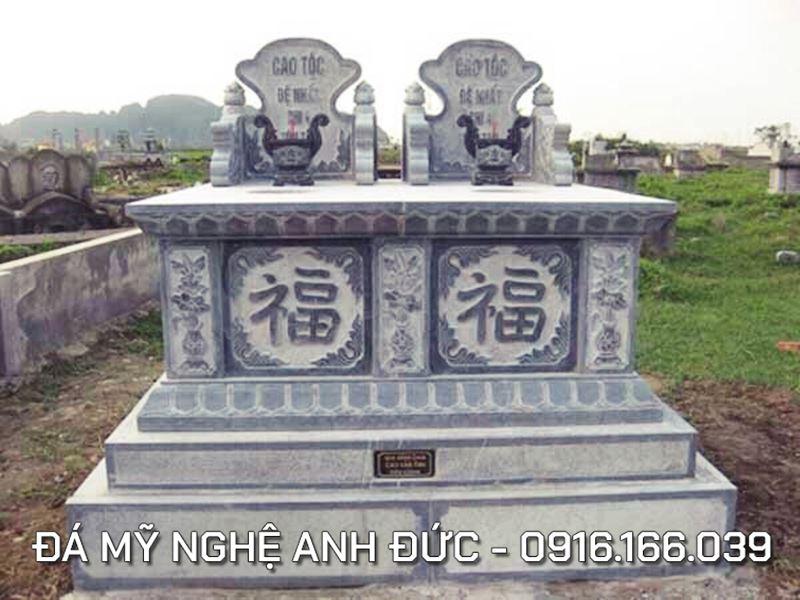Mộ đá ĐÔI cao cấp Anh Đức - Đá mỹ nghệ Ninh Vân, Hoa Lư, Ninh Bình