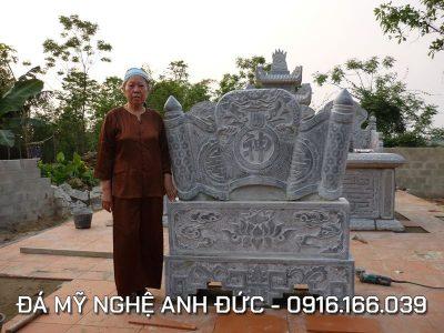 Cuốn thư đá đẹp cho Khu lăng mộ tại Thái Bình