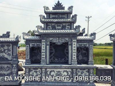 Xây dựng Khu lăng mộ đá ĐẸP với Lăng thờ đá Tam Quan 3 mái tại Thái Bình