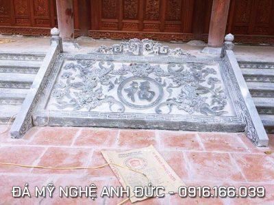 Mẫu Chiếu đá xanh nguyên khối cho Đình, Chùa