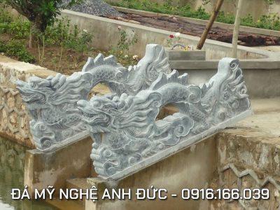 Lắp đặt Rồng đá ĐẸP cho Ngôi Chùa lớn ở Hà Tây, Hà Nội RĐ#9