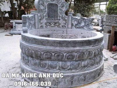 Mẫu Mộ Đẹp – Mộ đá tròn Đài SEN cao quý, tựa mộ cổ Anh Đức