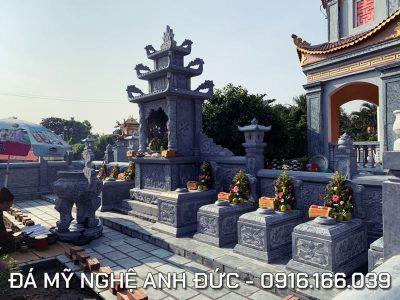 Tư vấn, xây dựng Khu Lăng Mộ Đá ĐẸP – Giá Rẻ khoảng 250 triệu đồng 9x4m tại Ninh Bình