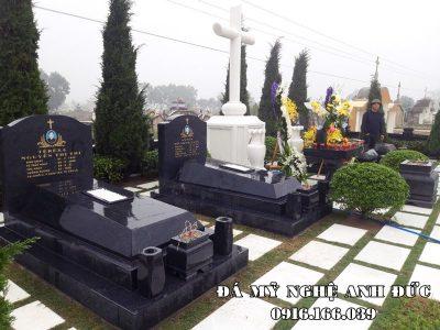 Xây dựng Khu Lăng mộ đá xanh rêu Granite Công giáo đẹp nhất hiện nay tại Nghệ An