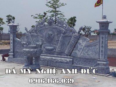 Đặt Cuốn thư đá dạng cột cho Khu lăng mộ đá xanh Ninh Bình