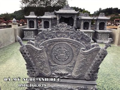 Bình phong đá (Cuốn thư) chữ Phúc tiếng Hán cho Khu Lăng đá đẹp Anh Đức