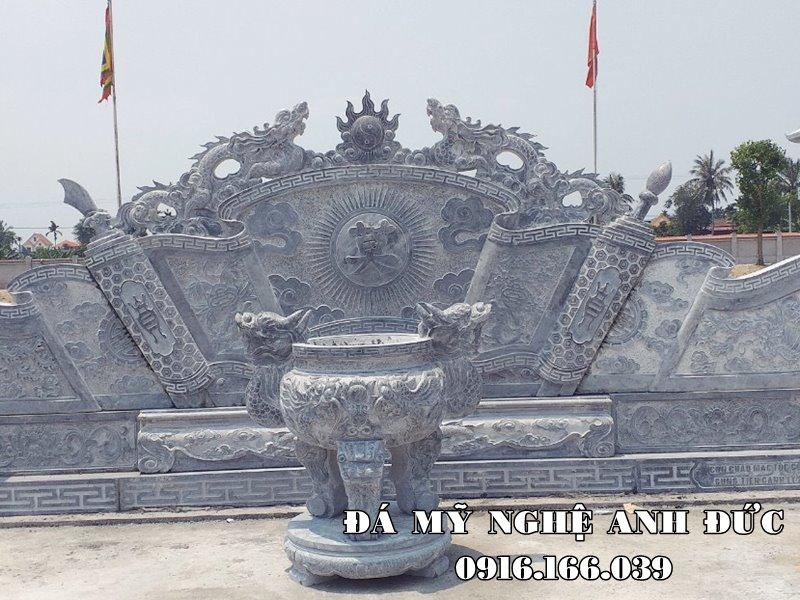 Mau Cuon thu da - Binh phong da Cot dep cho Dinh Lang