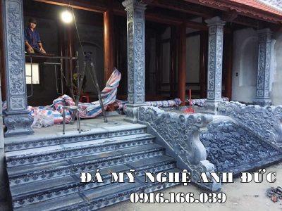 Đặt Cột đá, Bậc thềm đá, Chiếu đá, Rồng đá cho Nhà gỗ 3 gian tại Bắc Ninh