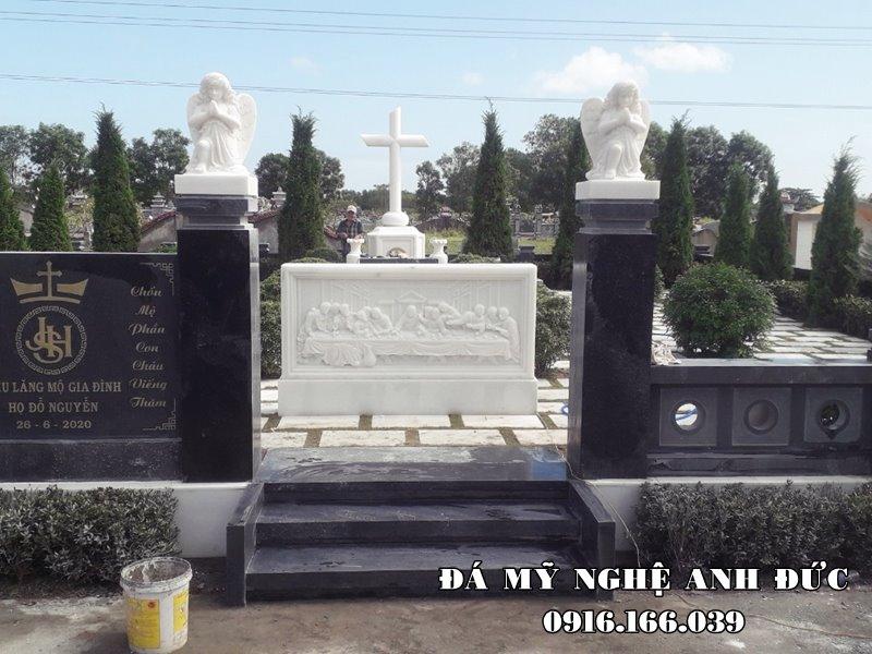 Khu Lang mo da - Lang da xanh reu Granite cho gia dinh - Giong nhu Hoa vien nghia trang sinh thai