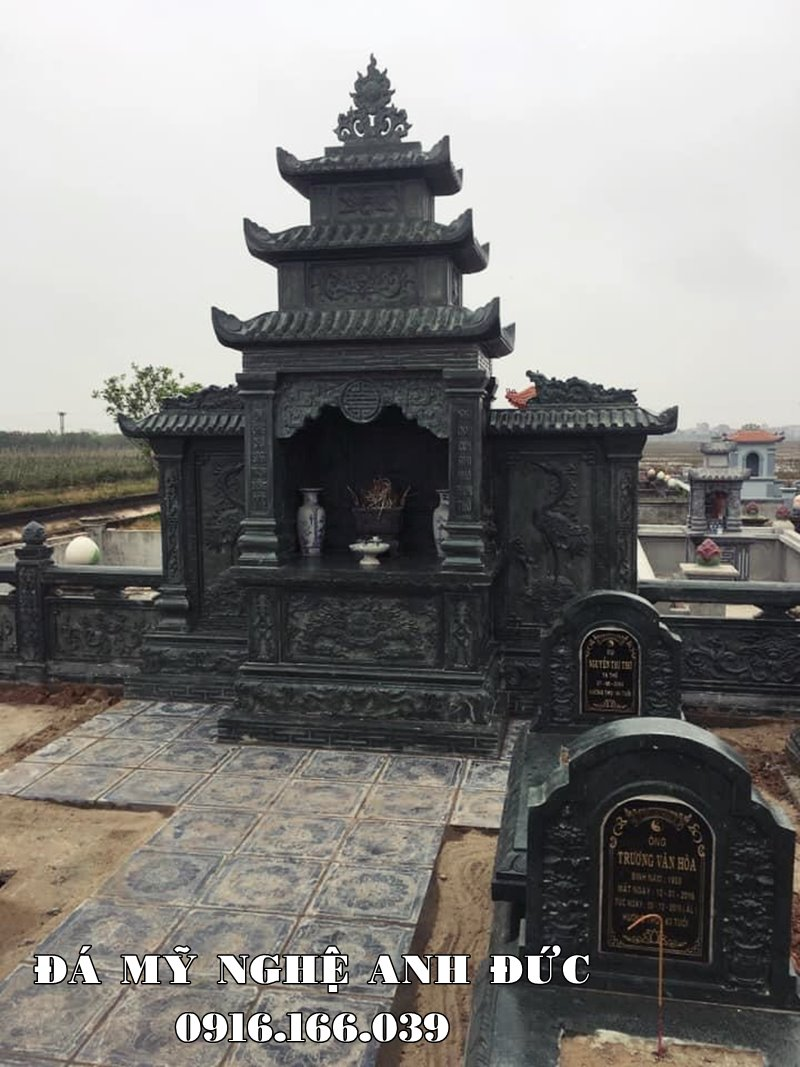 Mẫu Lăng thờ đá đẹp của khu Lăng đá xanh Ninh Bình.