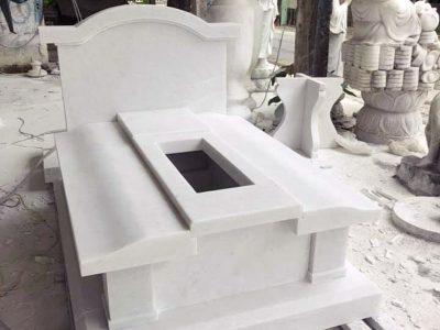 Mẫu Mộ đá trắng đẹp, phong cách Châu Âu hiện đại của Đá mỹ nghệ Anh Đức